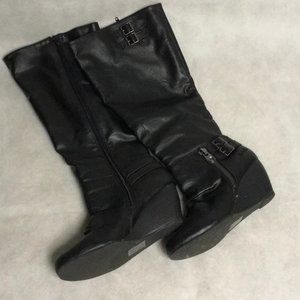 Blowfish Black Wedge Boots From Modcloth